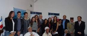 Une cérémonie d'hommage à  d'anciens vétérans algériens ayant participé à la libération de la France de l'occupant nazi