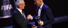 Zidane Sacré meilleur entrainer de l'année 2017