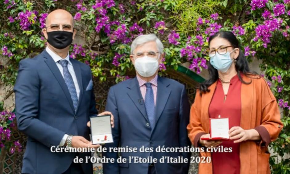 Deux Algériens reçoivent la distinction «Chevalier de l'Etoile d'Italie»