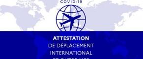 Voyage vers la France : téléchargez l'attestation de déplacement dérogatoire
